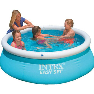 INTEX54402/28101蝶形婴幼儿充气游泳池超大儿童水池游泳池超大家庭加厚