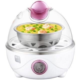 快乐一叮(klyd)ZDQ-506煮蛋器不锈钢多功能蒸蛋器自动断电早餐机6枚蛋