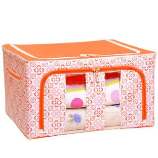 百草园 牛津布收纳箱 (60L、1个装、橘黄色)