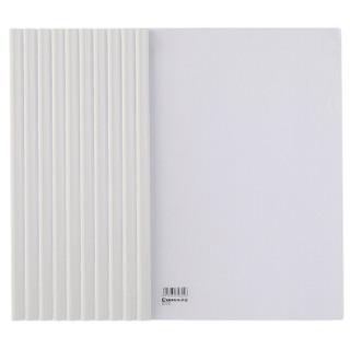 齐心(Comix) 10个装 强力加厚型抽杆夹/文件夹/报告夹/拉杆夹A4 Q310 白色 办公文具