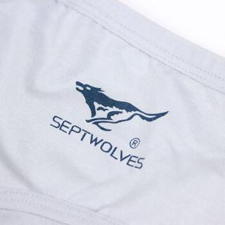 SEPTWOLVES 七匹狼 03314-4 纯棉弹力男士内裤 混色装 XL