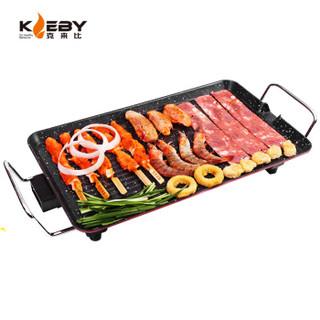 克来比(KLEBY)电烧烤炉 麦饭石家用无烟电烤炉烤肉锅烧烤炉 韩式电烤盘烤肉机煎烤机 中号 KLB9001