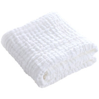 Elepbaby 象宝宝 水洗纱布儿童浴巾 白色泡泡 110X90CM 一条装