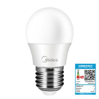 Midea 美的 LED灯泡3W E27大螺口 3000K 暖白色 单只装