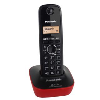 Panasonic 松下 KX-TG12CN-1 数字单无绳电话机 靓丽红