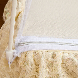 迎馨家纺 超柔加密蒙古包蚊帐 单人1.2米床 白色
