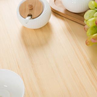 家逸 松木清漆餐桌椅组合 清漆原木色 一桌四椅