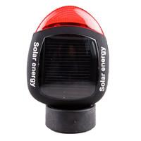 凯速LED太阳能充电半圆自行车尾灯 警示闪光免电池 黑色红光 RA004