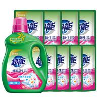 超能 双离子系列 焕彩新生洗衣液 1.5kg*1瓶+500g*8袋 晨露栀子花香