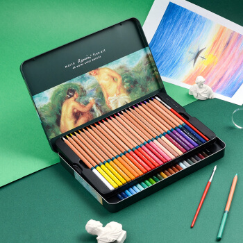 MARCO 马可 雷诺阿系列 3120-48TN 水溶性彩色铅笔 (48色铁盒装)