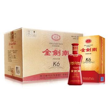 剑南春 金剑南K6 52度 浓香型白酒 500ml*6瓶