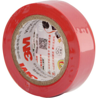 3M 1500# 无铅电气(电工)绝缘胶带 汽修家装 耐磨防潮耐酸碱  红色 单个装