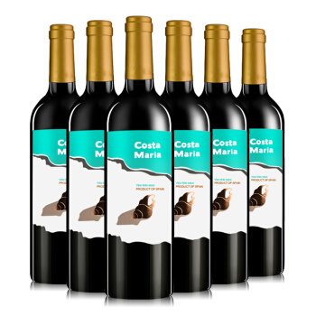 玛利亚海之情(Maria)干红葡萄酒750ml *6瓶 整箱装 西班牙进口红酒 *4件