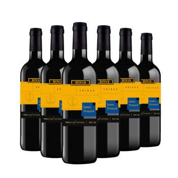 James Vineyard 詹姆士酒庄 詹姆士酒庄Bin18西拉干红葡萄酒 750ml*6瓶 整箱装 澳洲进口红酒