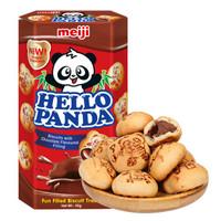 meiji 明治 熊猫巧克力夹心饼干 50g 盒装