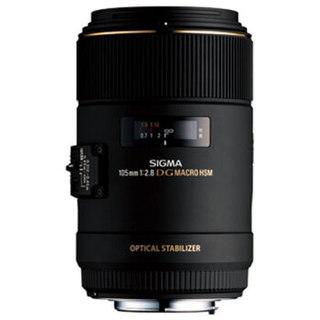 SIGMA 适马 105mm F2.8 EX DG OS HSM MACRO 定焦镜头 佳能口