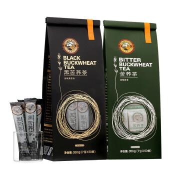 TIGER BALM 虎标 苦荞茶黑苦荞茶350g*2袋 组合装700g 四川凉山全颗粒全胚芽 荞麦茶 独立小袋装