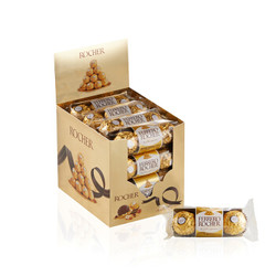 费列罗(Ferrero Rocher)榛果威化糖果巧克力 婚庆喜糖零食 520 情人节表白送礼 48粒礼盒装600g
