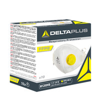 DELTAPLUS 代尔塔 104022 N95带呼吸阀口罩 耳带型 FFP2成人用 10只装