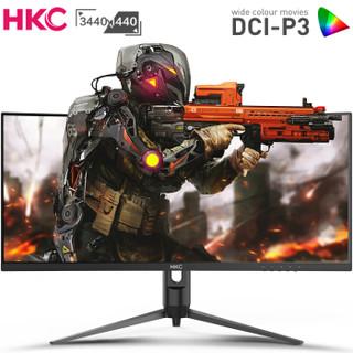 HKC 惠科 C349U 34英寸 VA显示器(3440×1440、1500R、100Hz、FreeSync)