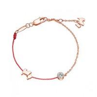 AGATHA/瑷嘉莎Red Line 925银 手链 红绳玫瑰金手链