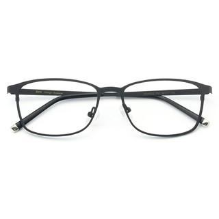 HAN HD49322 不锈钢 光学眼镜架+1.67翡翠绿膜非球面树脂镜片
