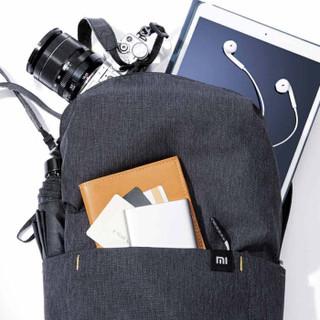 小米(MI)背包男女炫彩户外休闲双肩包笔记本电脑包旅行包 小米炫彩小背包 黑色
