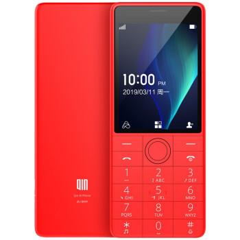 多亲(QIN) Qin 1s +AI学生电话VoLTE老人手 板手机 中国红