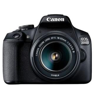 Canon 佳能 EOS 2000D APS-C画幅 数码单反相机 黑色 EF-S 18-55mm F3.5 IS STM 变焦镜头 单镜头套机