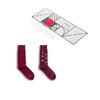 Kappa 卡帕 男士印花长筒袜子套装 KP8W06 2双装 罗马红印花色+罗马红净色