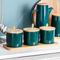 居宴  北欧祖母绿  陶瓷小油壶  290ml
