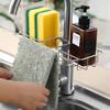 厨房不锈钢水龙头置物架抹布沥水架家用免打孔收纳神器水槽收纳架