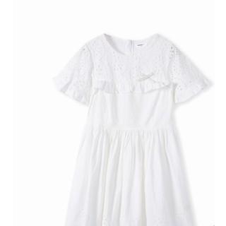 Balabala 巴拉巴拉 女童纯棉洋气度假风裙子