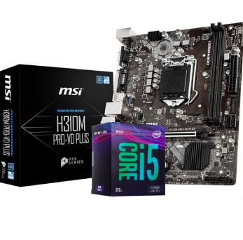 MSI 微星 H310M-PRO-VD 主板 + 酷睿i3-9100F 板U套装