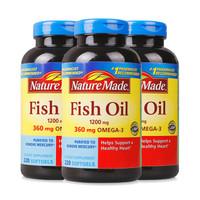 Nature Made 莱萃美 深海鱼油软胶囊 220粒*3瓶