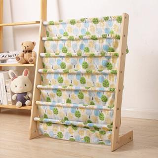 儿童实木组合书架 五层书架(绿色小树)