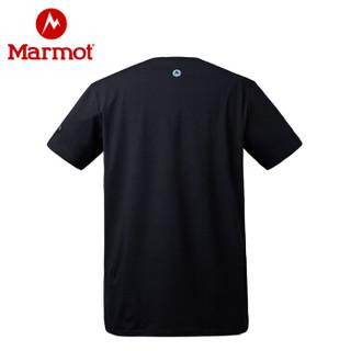 Marmot 土拨鼠 H59601 男款圆领宽松棉短袖T恤