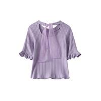Lagogo 拉谷谷 HCTT437G61 喇叭袖针织T恤