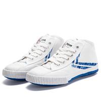飞跃×百事可乐 联名款 中帮帆布鞋 白色 34