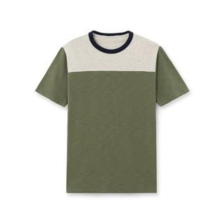 GAP 盖璞 464076 男士圆领拼色T恤