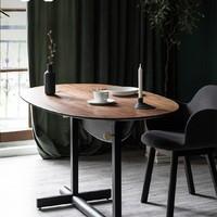 吱音树哲桌 折叠餐桌家用小户型实木北欧轻奢省空间创意咖啡桌