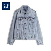 Gap 盖璞 443760 做旧棉质翻领胸袋牛仔衣