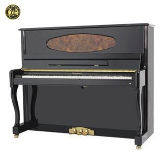 星海钢琴 凯旋K-125立式钢琴家用专业考级演奏教学钢琴德国配件乌木按键