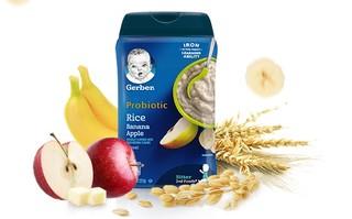 Gerber 嘉宝 米粉系列 婴幼儿香蕉苹果谷物米粉 2段 227g(6个月以上)
