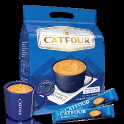catfour 蓝山 Catfour咖啡蓝山风味咖啡三合一咖啡速溶黑咖啡粉饮品袋装40条杯