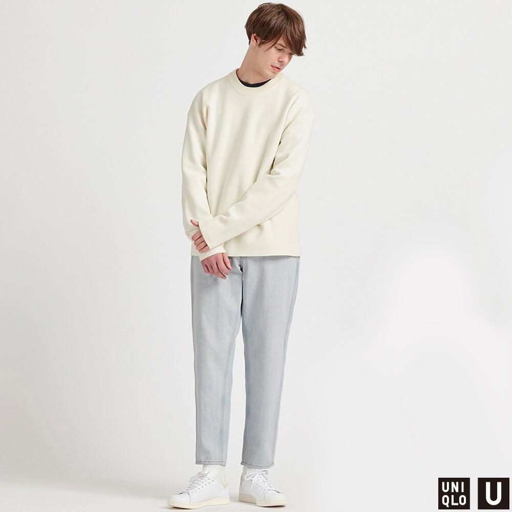 UNIQLO 优衣库 U系列 425818 宽腿窄口牛仔裤 天蓝色 175/84A