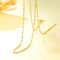CHJ 潮宏基 CX2009000220 水波纹足金项链 3.1g