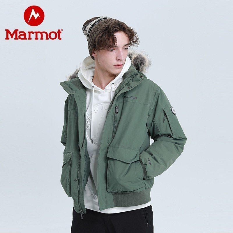 Marmot 土拨鼠 V81673 男士羽绒大衣鳄鱼绿4764 M 欧码偏大