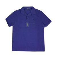 RALPH LAUREN 拉尔夫·劳伦 男士纯色翻领刺绣短袖T恤 耶鲁蓝 S