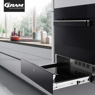 gram 蒸烤箱嵌入式一体机家用60L大容量搪瓷多功能智能电蒸汽烤箱7700-01X 黑色 黑色